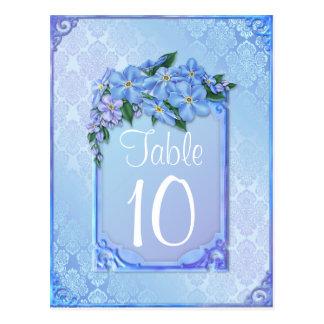 Elegant Lily Wedding Postcard table numbers