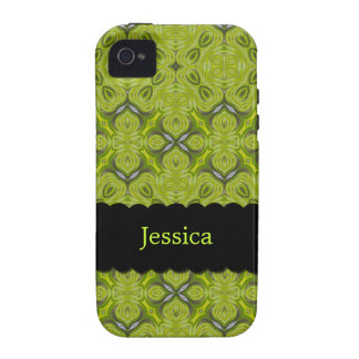 Elegant Lime Green Personalized Case-Mate iPhone 4 iPhone 4 Case