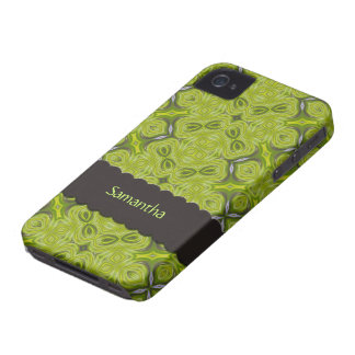 Elegant Lime Green Personalized Case-Mate iPhone 4 iPhone 4 Covers