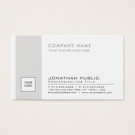 Elegant Logo Plain Corporate Modern Professional Business Card