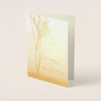 Elegant Lone Tree Thank You Gold Foil Card