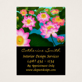 Elegant Lotus Floral Business Card