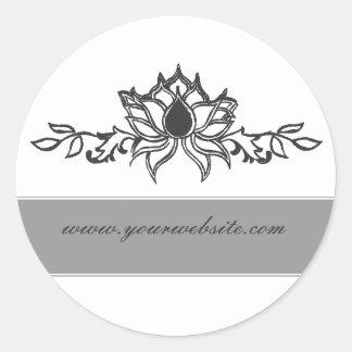 Elegant  lotus Flower Classic Round Sticker
