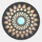 Elegant Lotus Flower Mandala Classic Round Sticker