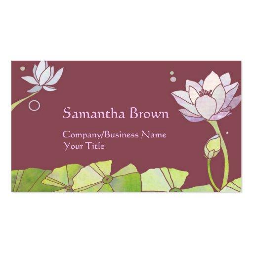 Elegant Lotus Flowers Business Cards