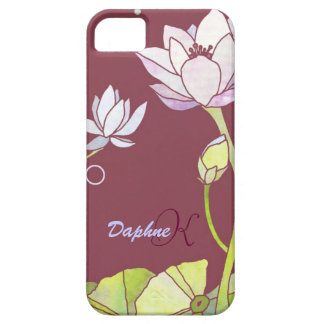 Elegant Lotus Monogram iPhone 5 CaseMate iPhone 5 Cover