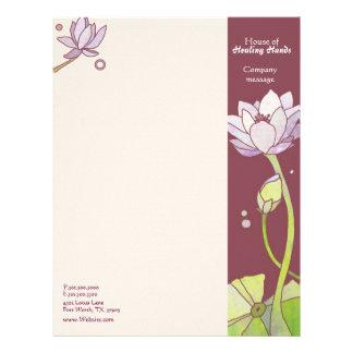 Elegant Lotus Spa or Fashion Business Letterhead