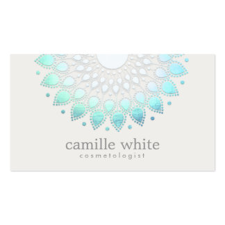 Elegant Lotus White Spa and Beauty Business Card
