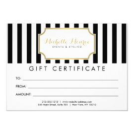 Elegant Luxe Bold Stripes Gift Certificate