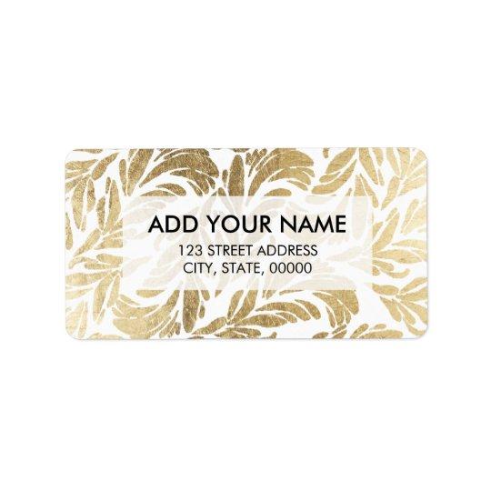 Elegant luxury custom faux gold foil floral damask