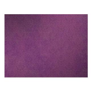 Elegant Luxury Purple Vintage Grunge Damask Postcard