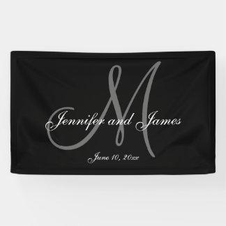 Elegant M Monogram Wedding Banner