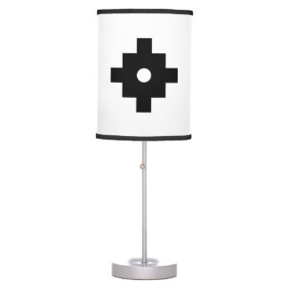 Elegant Machu Picchu Geometric Pattern Table Lamp
