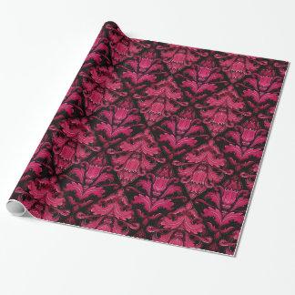 Elegant Magenta damask wrapping paper gift wrap