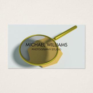 Elegant Magnifying glass Investigating Detective Business Card
