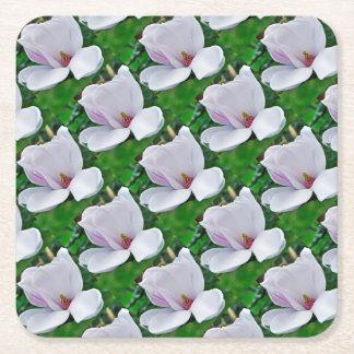 Elegant Magnolie Square Paper Coaster