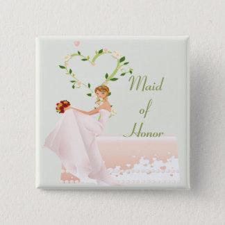 Elegant Maid of Honour Button