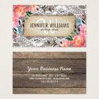 Elegant Makeup Artist Wedding Rustic Floral Business Card