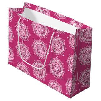Elegant Mandala Art Large Favor Bag