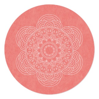 Elegant Mandala Boho Chic Wedding Card