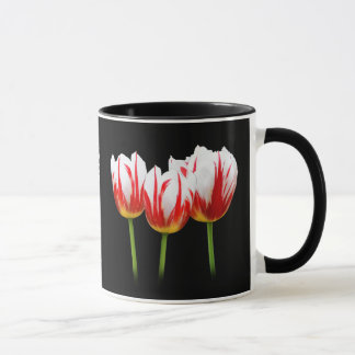Elegant Maple Leaf Tulips Mug