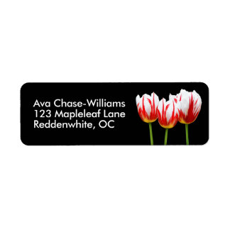 Elegant Maple Leaf Tulips Return Address Label