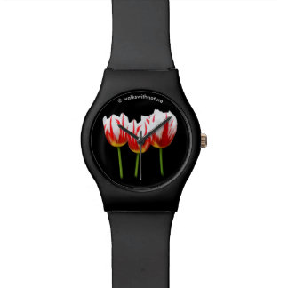 Elegant Maple Leaf Tulips Watch