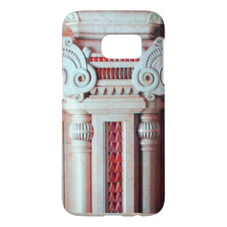 ELEGANT MARBLE COLUMN,RED PINK INTERIOR DESIGN SAMSUNG GALAXY S7 CASE