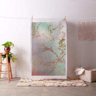 Elegant Marble   Copper Sage Mint Green Rose Gold Fabric