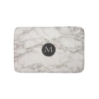 Elegant Marble Design Monogram Bath Mat