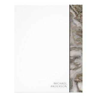 Elegant Marble Edge with Your Name Letterhead