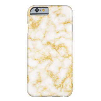 Elegant Marble - Gold White Barely There iPhone 6 Case