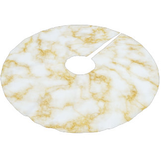 Elegant Marble - Gold White Brushed Polyester Tree Skirt