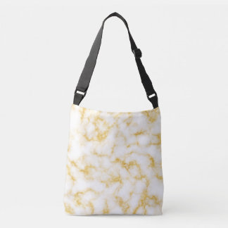 Elegant Marble - Gold White Crossbody Bag