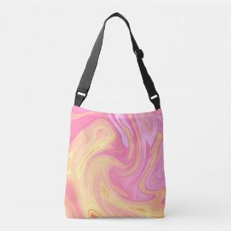 Elegant Marble - Peach Crossbody Bag