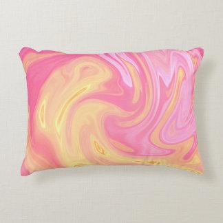 Elegant Marble - Peach Decorative Pillow