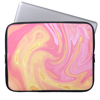 Elegant Marble - Peach Laptop Sleeve