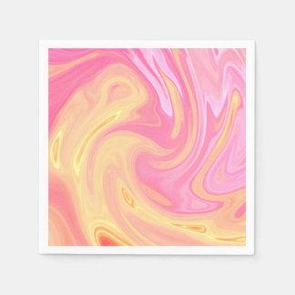 Elegant Marble - Peach Paper Napkins