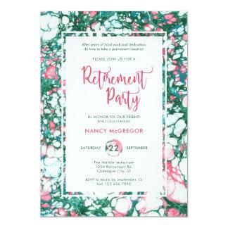 Elegant Marble Retirement Invitation