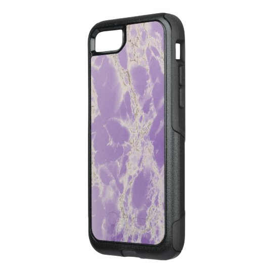 Elegant Marble Stone Purple and White Otterbox OtterBox Commuter iPhone 7 Case