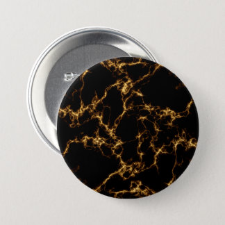 Elegant Marble style3 - Black Gold 3 Inch Round Button