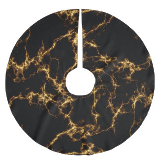 Elegant Marble style3 - Black Gold Brushed Polyester Tree Skirt