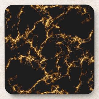 Elegant Marble style3 - Black Gold Coaster
