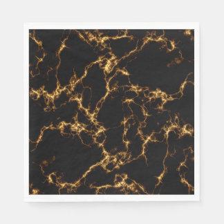 Elegant Marble style3 - Black Gold Disposable Napkins