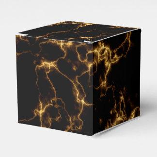 Elegant Marble style3 - Black Gold Favor Box