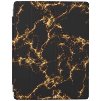 Elegant Marble style3 - Black Gold iPad Cover