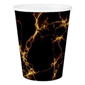 Elegant Marble style3 - Black Gold Paper Cup
