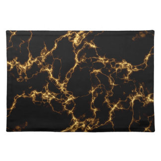 Elegant Marble style3 - Black Gold Placemat