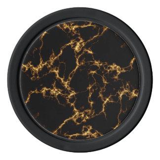 Elegant Marble style3 - Black Gold Poker Chips