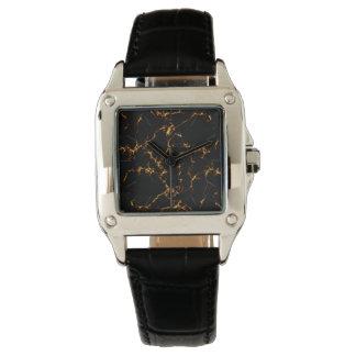 Elegant Marble style3 - Black Gold Watch